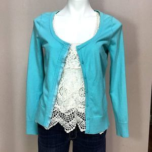 Lilly Pulitzer Turquoise Cardigan S
